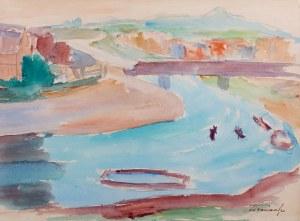 Zbigniew Pronaszko (1885 Debreczyn - 1958 Kraków) - Kraków - krajobraz z mostem Dębnickim