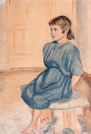 Malarz nieokreślony (2 poł. XVIII w.) - Portret dziewczynki, 1926 r.