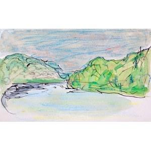 Józef Czapski (1896 Praga - 1993 Maisons-Laffitte) - Zielony pejzaż