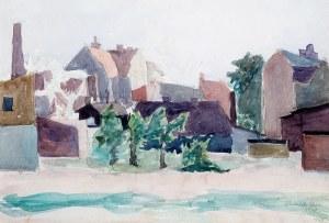 Maria Winiarska (ur. 1902) - Zabudowa miejska (praca dwustronna), 1948 r.