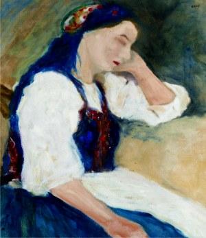 Aneri Irena Weissowa (1888-1981), Studium wiejskiej dziewczyny drzemiącej przy stole