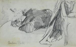 Stanisław Kaczor Batowski (1866-1945), Młody mężczyzna leżący z cygarem