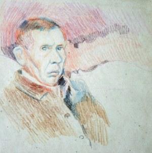Stanisław Kamocki (1875-1944), Autoportret na tle pejzażu, ok. 1942