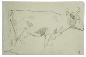 Wojciech Kossak (1856-1942), Krowa z opuszczoną głową – szkic