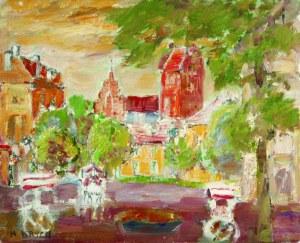 Henryk Krych (1905-1980), Rynek [Rynek Nowego Miasta w Warszawie z kościołem Najświętszej Marii Panny]