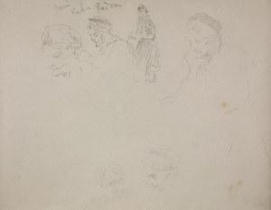 Jacek Malczewski (1854-1929), Szkice postaci i głowy starej kobiety – Pani Kuhn z Radomia