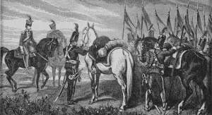 Juliusz Kossak (1824-1899), Przygotowanie do wymarszu z obozu na pole bitwy w Boryszkowicach 1792 roku