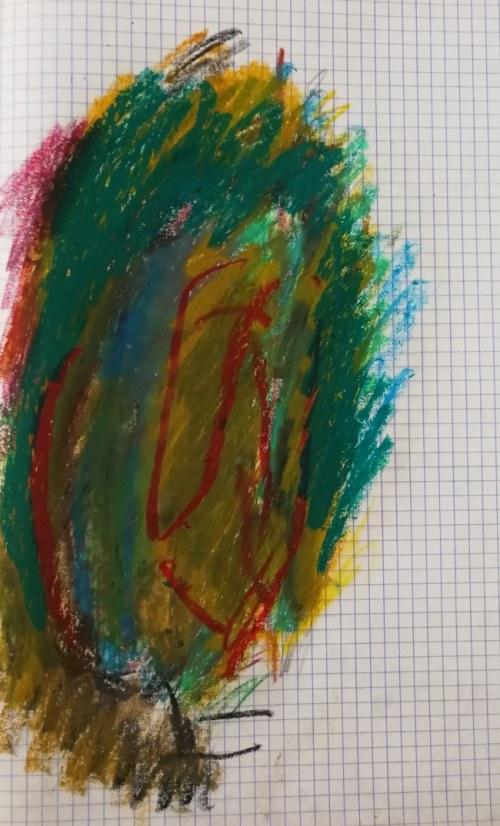 """Jerzy Panek (1918-2001), Twarz abstrakcyjna II z cyklu """"NIEWIDOMY EROTOMAN"""", 1993"""