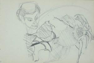 Włodzimierz Tetmajer (1861 – 1923), Szkice słonecznika i głowy kobiety, ok. 1900