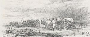 Juliusz KOSSAK (1824 - 1899), Tabory w drodze