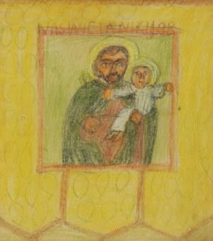 Nikifor KRYNICKI (1895-1968), Święty Józef z Dzieciątkiem Jezus