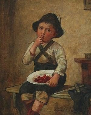 Edmund ADLER [RODE] (1876-1965), Chłopiec z czereśniami