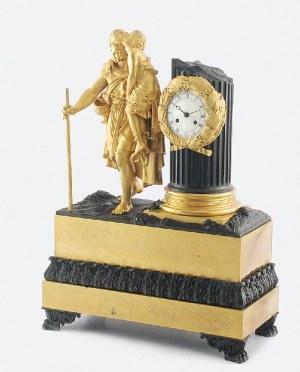 Zegar kominkowy z figurą starca