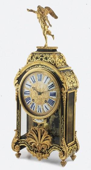 Warsztat zegarmistrzowski ISAAC DE CLEVES A P, Zegar konsolowy, szafkowy - religieuse, w typie Boulle'a