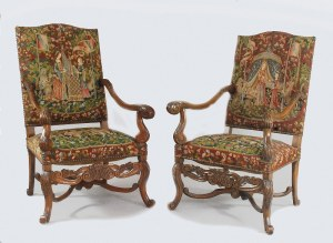 Para foteli neorenesansowych