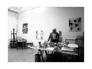 Wojciech Fangor, Summit, Nowy Jork, 15 X 1988, 30 x 40 cm