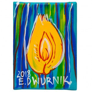 Edward Dwurnik (ur. 1943), Tulipan żółty, 2018