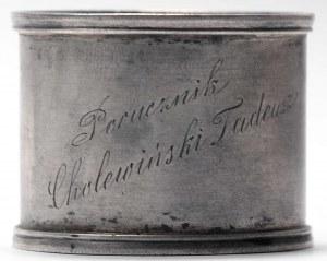 II RP, Obrączka na serwetki po poruczniku Tadeuszu Cholewińskim 13 Pułk Ułanów Wileńskich