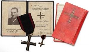 II RP Krzyż Niepodległości wraz z miniaturą i legitymają