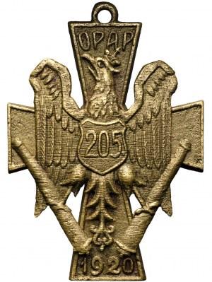 II RP, Odznaka 205 Ochotniczego Pułku Artylerii Polowej