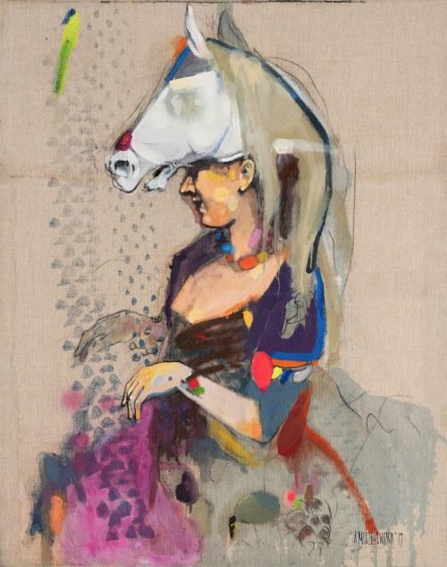"""Aleksandra Modzelewska (Ur. 1992), Z cyklu """"Powrót do lat 30"""", 2017"""