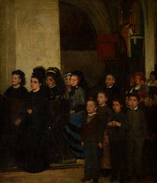 Ludwik Żmigrodzki (1856 - 1906), Scena rodzajowa - rekolekcje