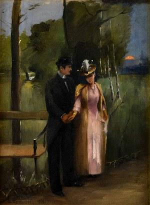 Alfons Karpiński (1875 Rozwadów - 1961 Kraków), W parku, 1890