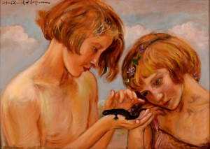Wlastimil Hofman (1881 Karlino K. Pragi - 1970 Szklarska Poręba), Dzieci z jaszczurką