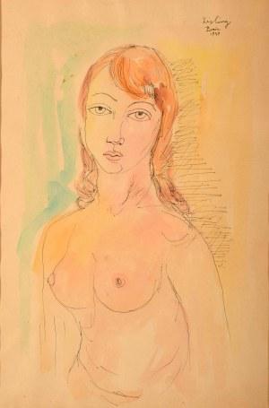 Mojżesz Kisling (1891 Kraków - 1953 Sanary-Sur-Mer), Półakt kobiecy, 1949