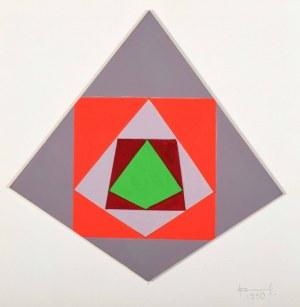 Jan Chwałczyk (Ur. 1924 Krosno), Kompozycja geometryczna, 1990
