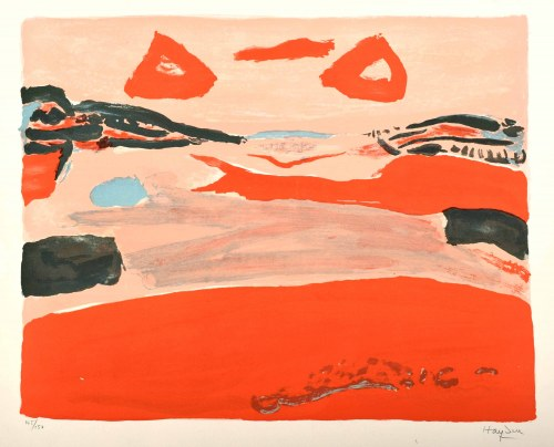 Henryk Hayden (1883 Warszawa - 1970 Paryż), Pejzaż czerwony