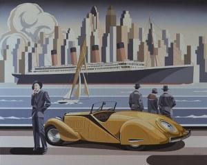 Tomasz Kostecki (ur. 1964) - Kobieta i żółte Bugatti, 2018