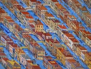 Edward Dwurnik, Wenecja, 1997, 50 x 70 cm (duży format)