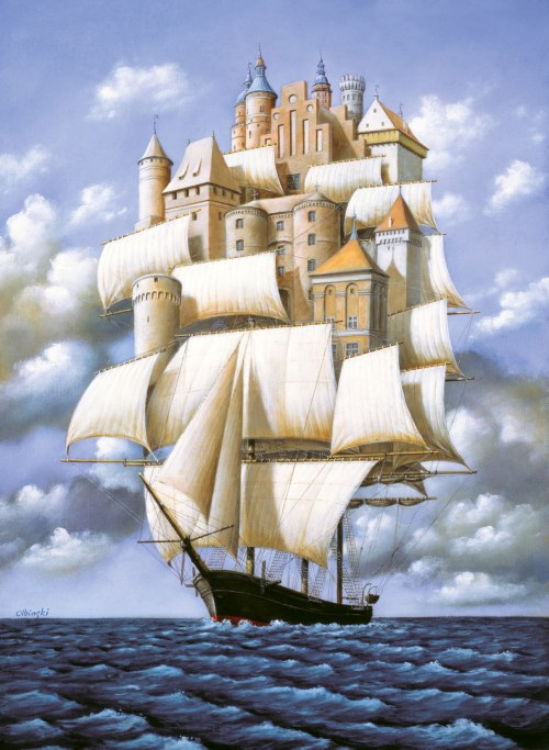 Rafał Olbiński (ur. 1943), Sometimes the Ship is Just a Ship
