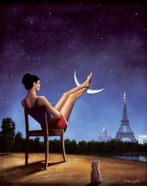 Rafał Olbiński (ur. 1943), Nogi na księżycu - Paryż