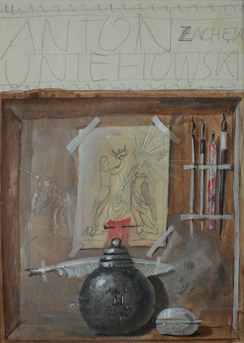 Franciszek Starowieyski (1930 Bratkówka k. Krosna - 2009 Warszawa)Projekt plakatu do wystawy Antoniego Uniechowskiego, 1974 r.