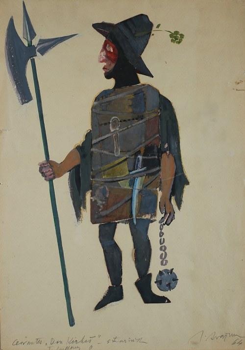 Józef Szajna (1922 Rzeszów - 2008 Warszawa)Projekt kostiumu do Don Kichota, 1964 r.