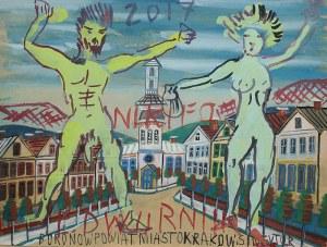 Edward Dwurnik (ur. 1943 Radzymin)Nikifor-Dwurnik (para), 2017 r.