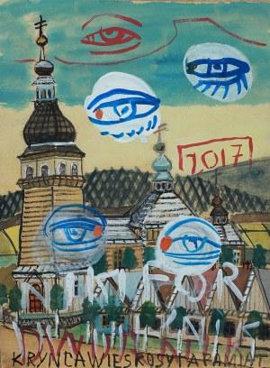 Edward Dwurnik (ur. 1943 Radzymin)Nikifor-Dwurnik (oczy), 2017 r.