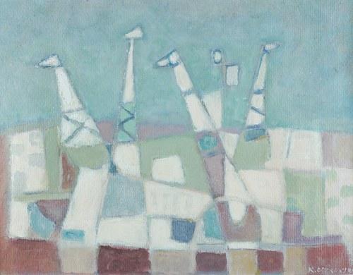 Kazimierz Ostrowski (1917 Berlin-1999 Gdynia)W stoczni