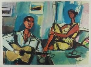 Zygmunt Menkes (1896 Lwów - 1986 Riverdale)Siedząca para (Love song)