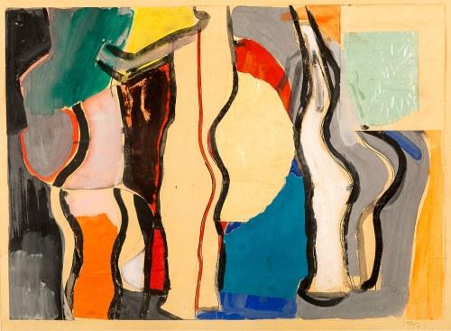 Lech Kunka (1920-1978), Abstrakcja, 1950