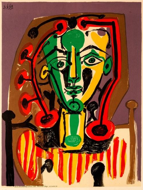 Pablo Picasso (1881-1973), Figure au corsage rayé, 1949