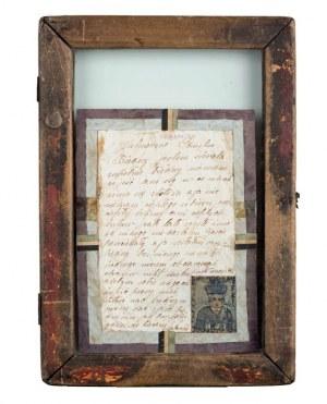 Nikifor Krynicki, List proszalny z autoportretem Nikifora