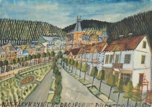 Nikifor Krynicki, Pejzaż miejski z Krynicy
