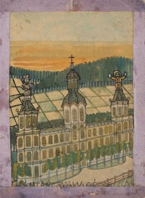 Nikifor Krynicki, Budynek z trzema wieżami