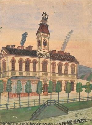 Nikifor Krynicki, Nikifor jako urzędnik na dachu budynku