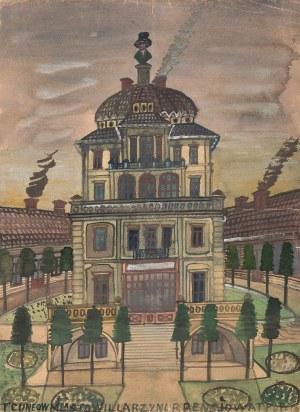 Nikifor Krynicki, Budynek z popiersiem na dachu