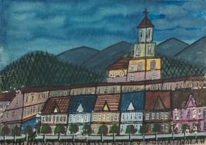 Nikifor Krynicki, Miasto w górach
