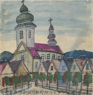 Nikifor Krynicki, Pejzaż miejski z kościołem
